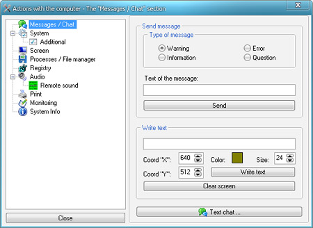 Hidden Administrator: Messages/Chat